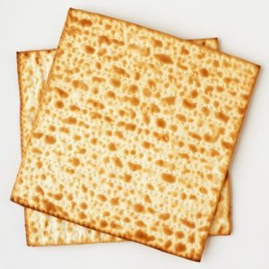 Two square matzo crackers.