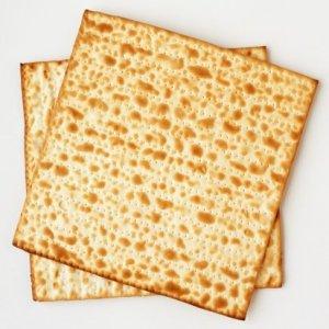 Two square matzo crackers.