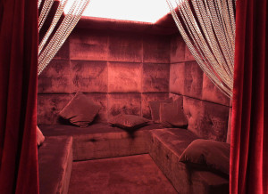 PARIS, FRANCE:  Undated picture shows the backroom of the Pink Paradise striptease club, located in Ponthieu street in Paris. This erotic-chic cabaret designed by Imaad Rahmouni popularizes the new trend of
